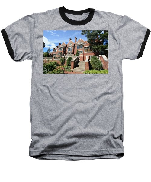 Glensheen Mansion Exterior Baseball T-Shirt by Amanda Stadther