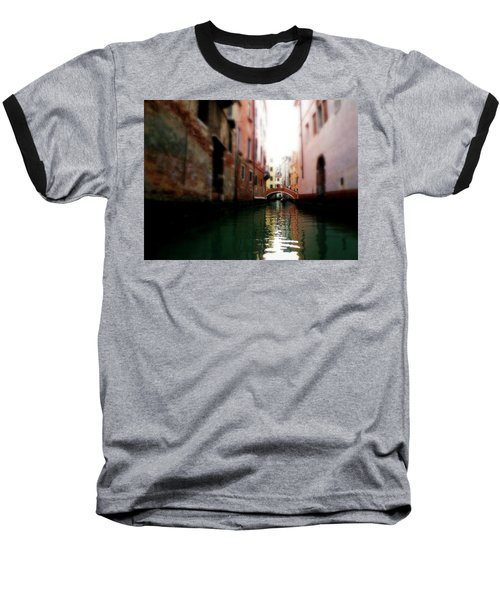 Baseball T-Shirt featuring the photograph Gliding Along The Canal  by Micki Findlay