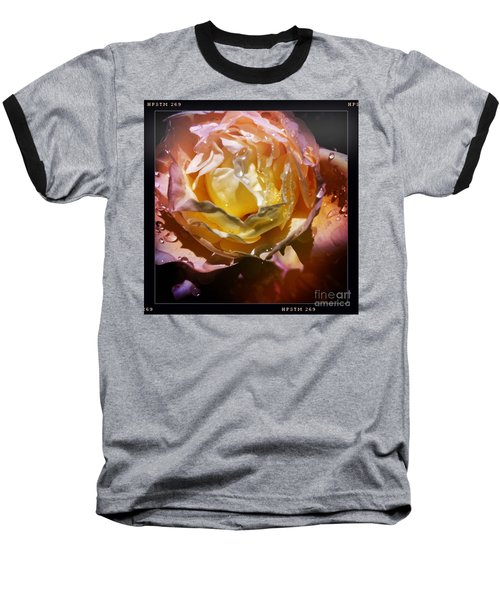 Glistening Rose Baseball T-Shirt