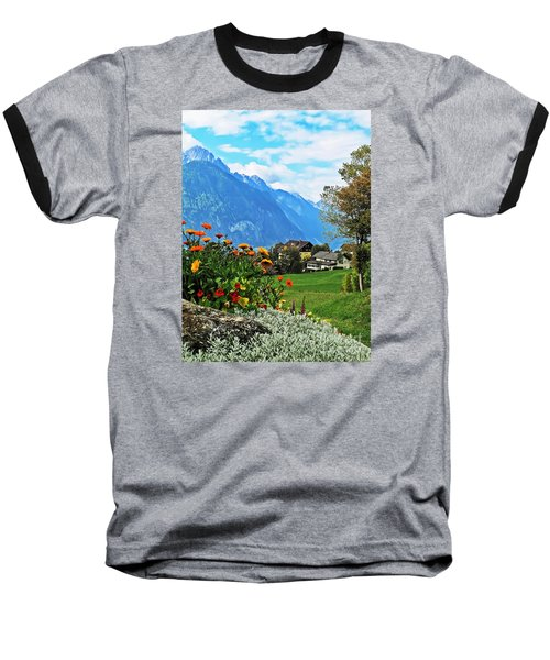 Glorious Alpine Meadow Baseball T-Shirt