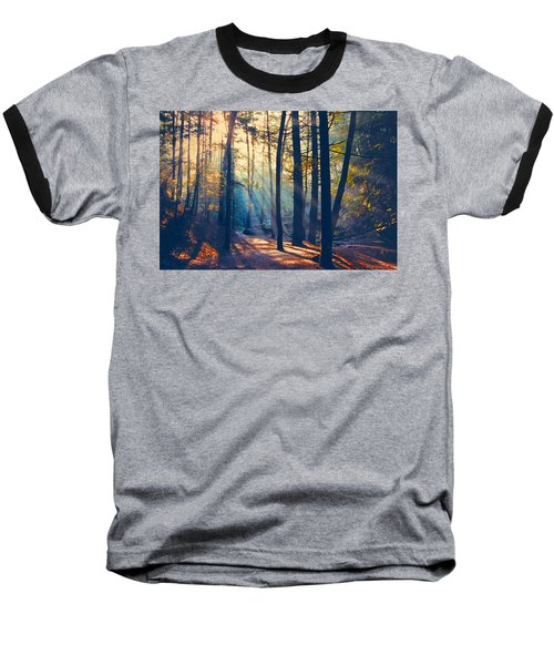 Glorious Forest Morning Baseball T-Shirt by Diane Alexander