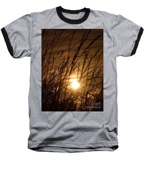 Glow Through The Grass Baseball T-Shirt