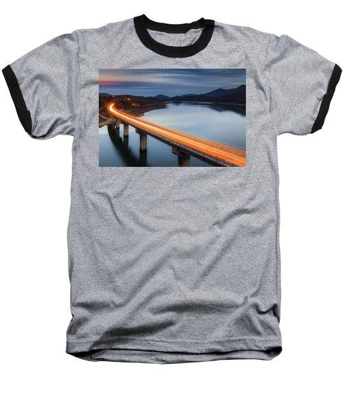 Glowing Bridge Baseball T-Shirt