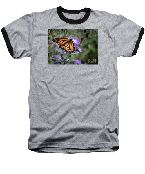 Baseball T-Shirt featuring the photograph Glowing Butterfly by Nava Thompson