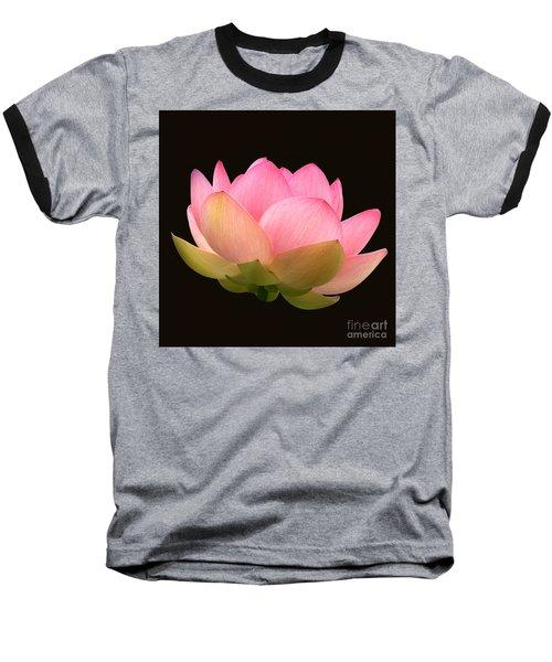 Glowing Lotus Square Frame Baseball T-Shirt by Byron Varvarigos