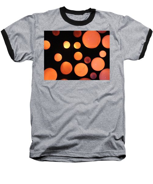 Glowing Orange Baseball T-Shirt