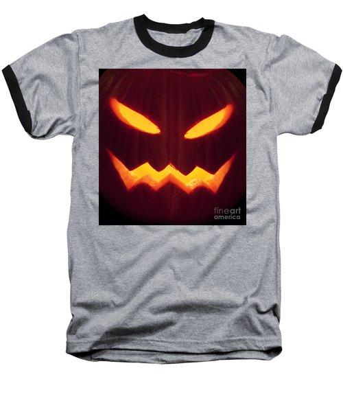 Glowing Pumpkin Baseball T-Shirt