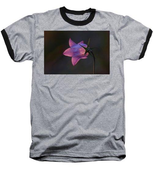 Glowing Sunset Flower Baseball T-Shirt