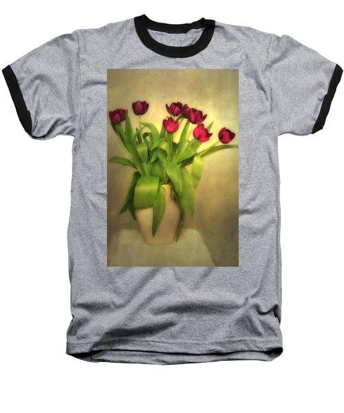 Glowing Tulips Baseball T-Shirt