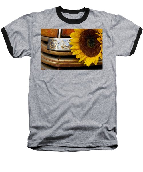 Gmc Sunflower Baseball T-Shirt by Steven Bateson