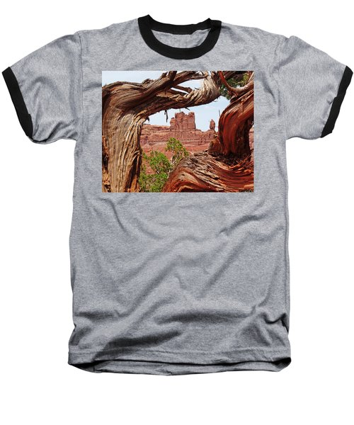 Baseball T-Shirt featuring the photograph Gnarly Tree by Alan Socolik