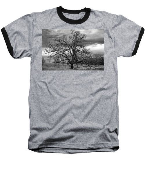 Baseball T-Shirt featuring the photograph Gnarly Tree by Sennie Pierson