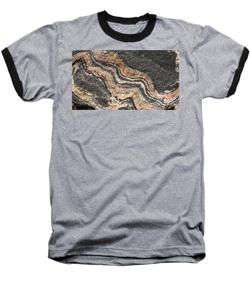 Gneiss Rock  Baseball T-Shirt by Les Palenik