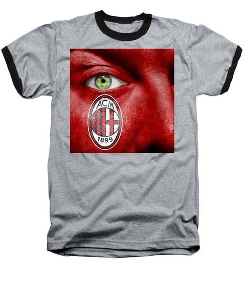 Go Ac Milan Baseball T-Shirt by Semmick Photo