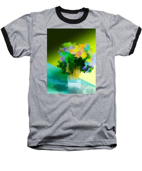 Go Fleur Baseball T-Shirt by Frank Bright