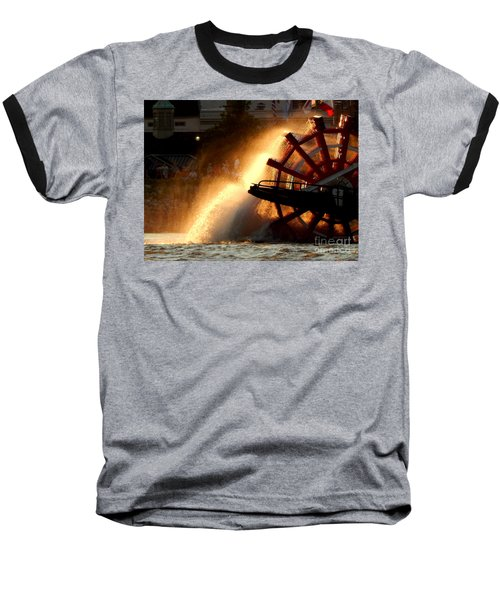 New Orleans Steamboat Natchez On The Mississippi River Baseball T-Shirt by Michael Hoard