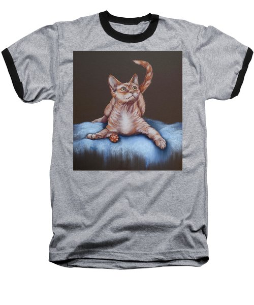 Baseball T-Shirt featuring the painting Go On Throw It Again by Cynthia House