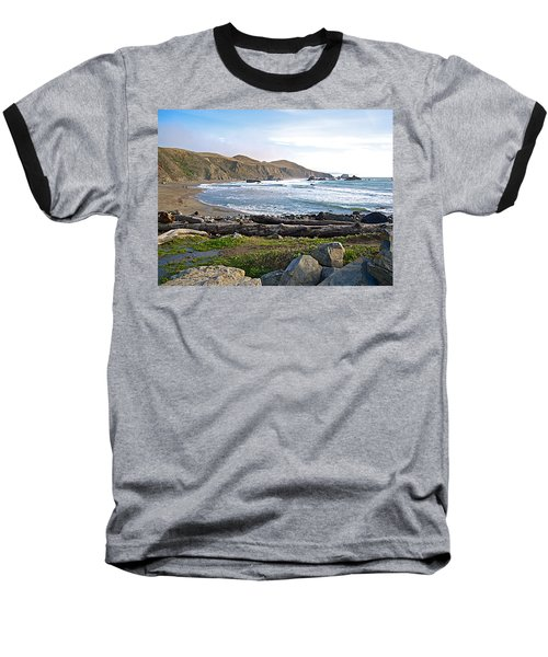 Goat Rock State Beach On The Pacific Ocean Near Outlet Of Russian River-ca  Baseball T-Shirt by Ruth Hager