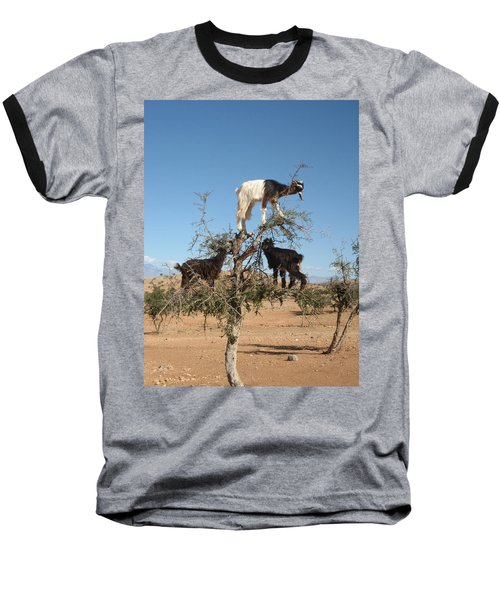 Goats In A Tree Baseball T-Shirt