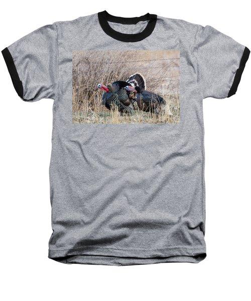 Gobbling Turkeys Baseball T-Shirt