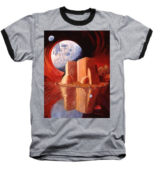 Baseball T-Shirt featuring the painting God Is In The Moon by Art James West