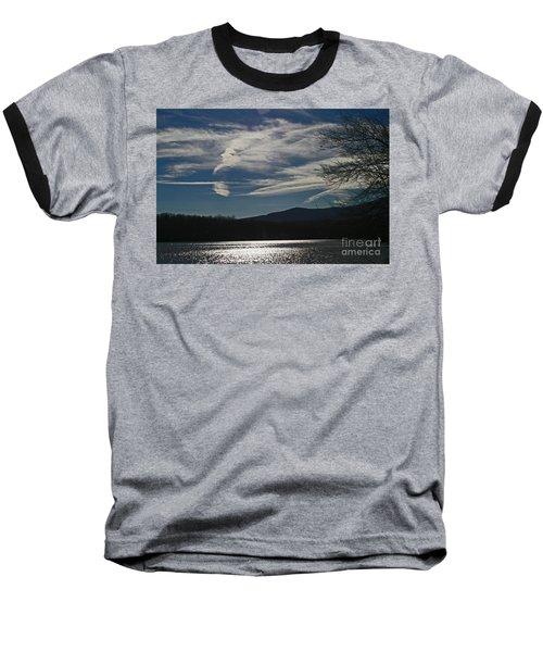 God Paints The Sky Baseball T-Shirt