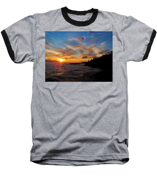 Baseball T-Shirt featuring the photograph God's Morning Painting by Bonfire Photography