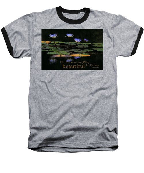 Peace Of Mind With Message Baseball T-Shirt