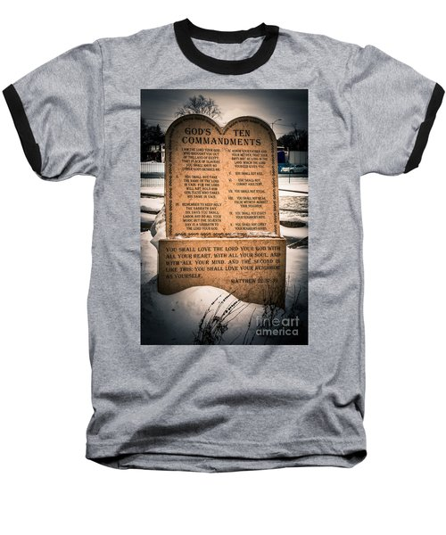 God's Ten Commandments Baseball T-Shirt