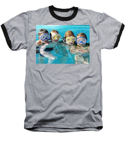 Baseball T-Shirt featuring the photograph Goggle Eyed Quartet by David Nicholls