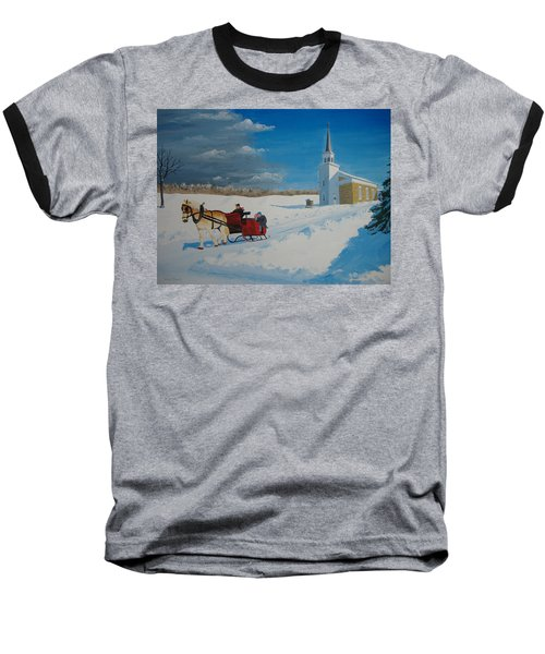 Going Home From Church Baseball T-Shirt by Norm Starks