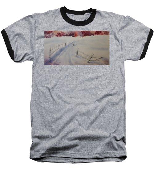 Going Home Baseball T-Shirt by Richard Faulkner