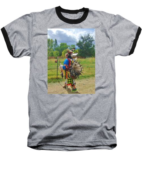 Baseball T-Shirt featuring the photograph Going To The Pow Wow by Marilyn Diaz
