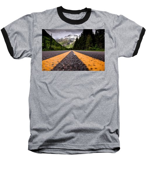 Going To The Sun Baseball T-Shirt by Aaron Aldrich