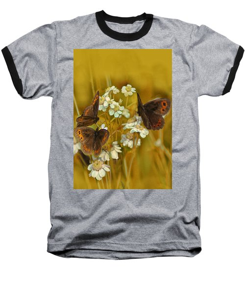 Gold And Brown Baseball T-Shirt by Jacqi Elmslie