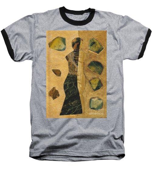 Gold Black Female Baseball T-Shirt