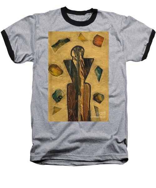 Gold Black Male Gems Baseball T-Shirt