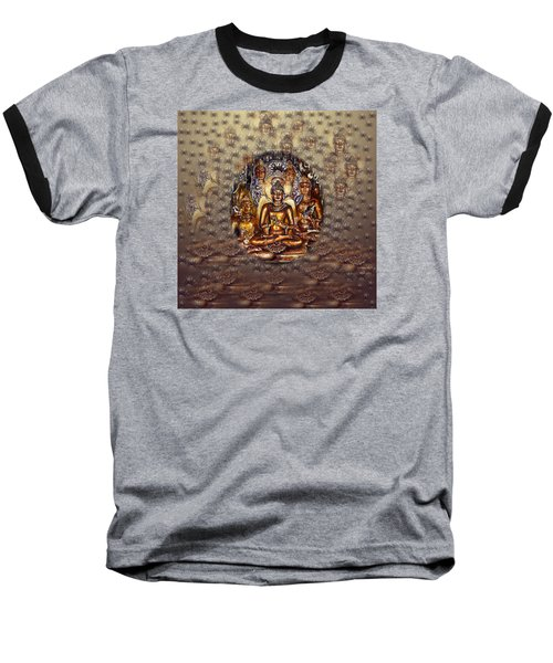 Gold Buddha Baseball T-Shirt