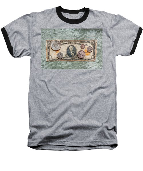 Gold Certificate And Silver Coins Ver 1 Baseball T-Shirt