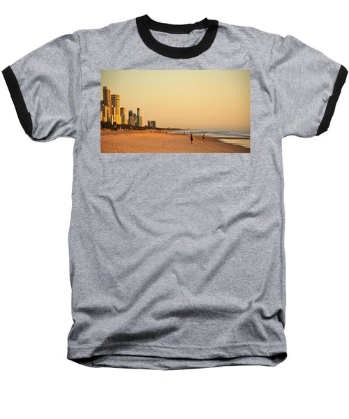 Baseball T-Shirt featuring the photograph Gold Coast Beach by Eric Tressler