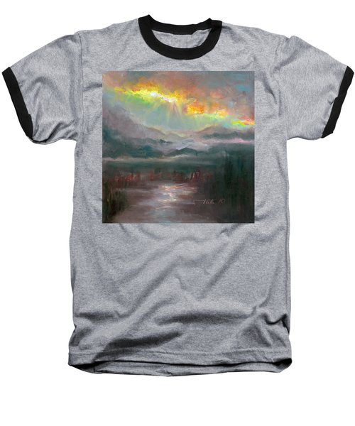 Gold Lining - Chugach Mountain Range En Plein Air Baseball T-Shirt