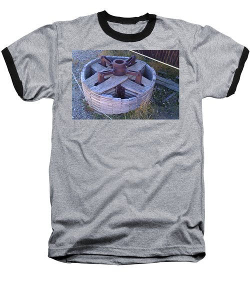Baseball T-Shirt featuring the photograph Gold Mine Pulley by Fortunate Findings Shirley Dickerson