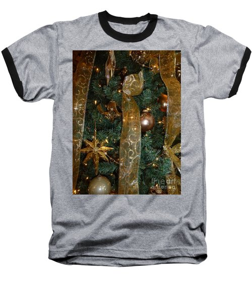 Gold Tones Tree Baseball T-Shirt