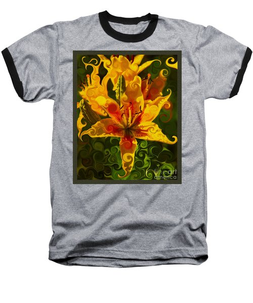 Baseball T-Shirt featuring the painting Golden Beauties by Omaste Witkowski