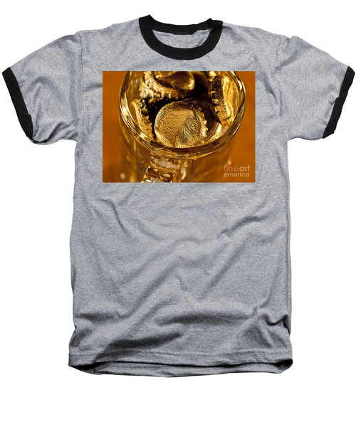 Baseball T-Shirt featuring the photograph Golden Beer  Mug  by Wilma  Birdwell