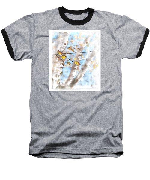 Golden Birch Baseball T-Shirt by Caitlyn  Grasso
