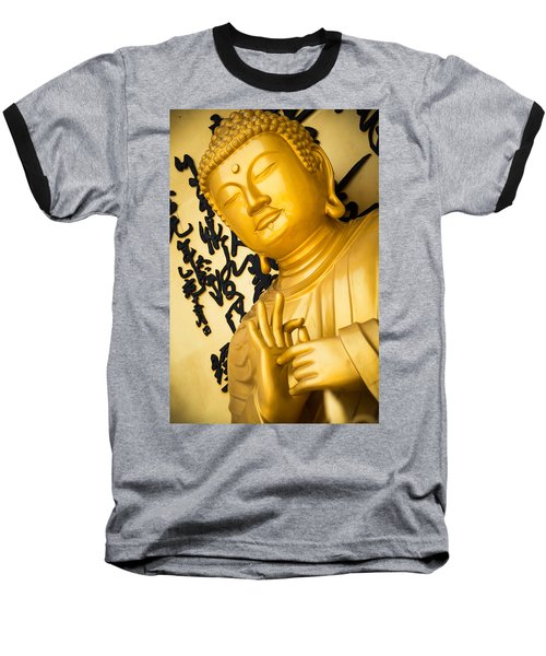 Golden Buddha Statue Baseball T-Shirt