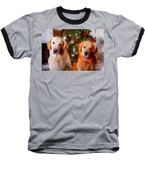 Golden Christmas Baseball T-Shirt