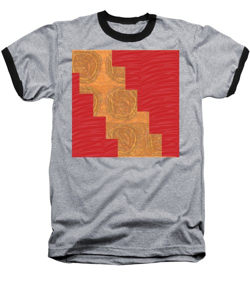 Baseball T-Shirt featuring the photograph Golden Circles Red Sparkle  by Navin Joshi