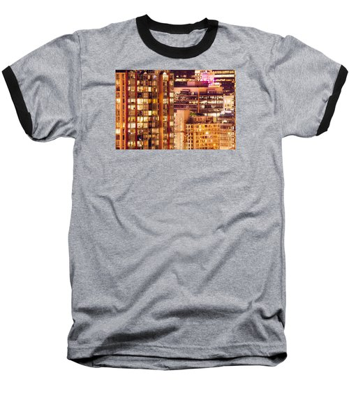 Baseball T-Shirt featuring the photograph City Of Vancouver - Golden City Of Lights Cdlxxxvii by Amyn Nasser